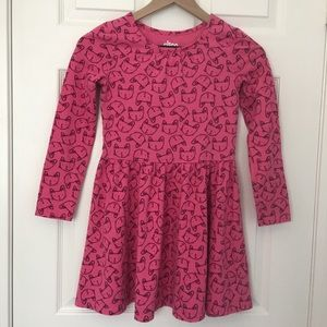 Girls Kitty Cat Print Dress